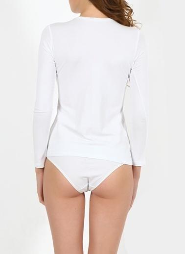 Miorre Uzun Kollu Body Beyaz